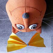 """Куклы и игрушки ручной работы. Ярмарка Мастеров - ручная работа Текстильный кот """"С добрым утром"""". Handmade."""