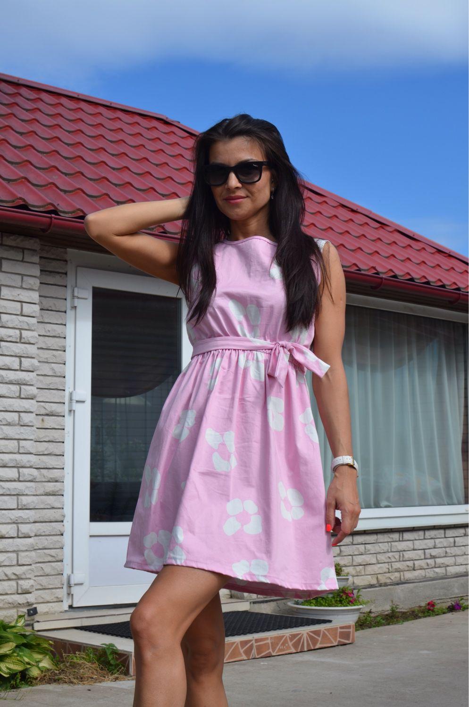 2db50b4c6bb Платья ручной работы. Ярмарка Мастеров - ручная работа. Купить розовое летнее  платье.