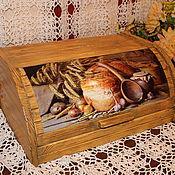 """Для дома и интерьера ручной работы. Ярмарка Мастеров - ручная работа Хлебница деревянная """"Пышный хлеб"""". Handmade."""