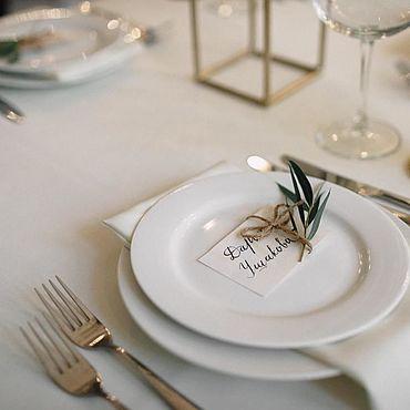 Свадебный салон ручной работы. Ярмарка Мастеров - ручная работа Карточки: каллиграфия. Handmade.