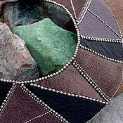 Украшения ручной работы. Ярмарка Мастеров - ручная работа Кожаное колье Geometrical. Handmade.