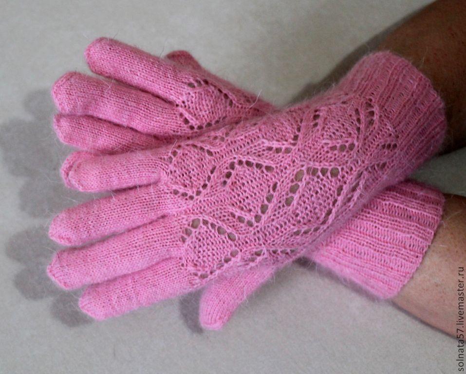 перчатки вязаные спицами фото