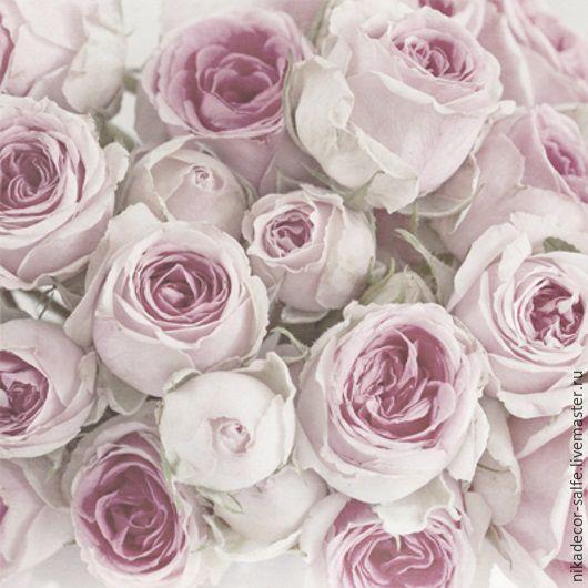 Декупаж и роспись ручной работы. Ярмарка Мастеров - ручная работа. Купить Розовые розы (80061) 33х33 салфетка для декупажа. Handmade.