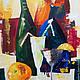 """Натюрморт ручной работы. Ярмарка Мастеров - ручная работа. Купить Картина маслом """"Мохито"""". Handmade. Разноцветный, натюрморт, бокал, напиток"""
