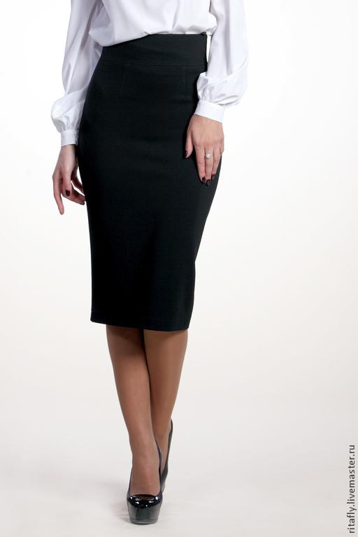 юбка с завышенной талией юбка трикотажная юбка из трикотажа юбка узкая юбка женская юбка шитая юбка классическая юбка в офис юбка повседневная юбка черная юбка джерси юбка миди юбка по колено