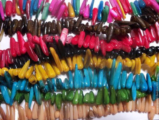 Для украшений ручной работы. Ярмарка Мастеров - ручная работа. Купить Палочки из перламутра (7 основных цветов). Handmade. Разноцветный
