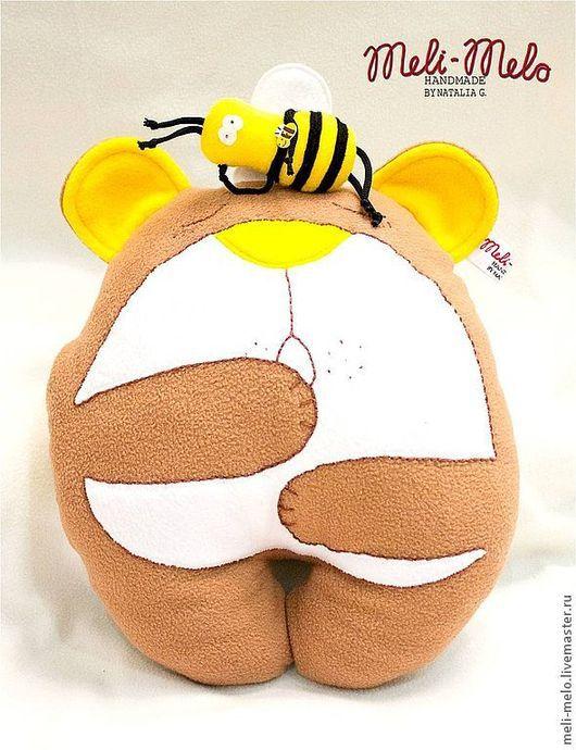 Детская ручной работы. Ярмарка Мастеров - ручная работа. Купить Подушка-игрушка... Пока медведь спит- пчёлы не дремлют!. Handmade.
