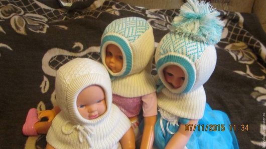 Для новорожденных, ручной работы. Ярмарка Мастеров - ручная работа. Купить шапки шлемы для малышей. Handmade. Комбинированный, шапка с помпоном