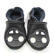 Одежда детская handmade. Livemaster - original item Black Baby Shoes, Leather Baby Shoes,Car Baby Shoes,Ebooba. Handmade.