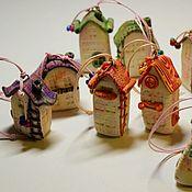 Куклы и игрушки handmade. Livemaster - original item Colored houses-pendants. Handmade.