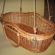 Работы для детей, handmade. Livemaster - original item Wicker cradle