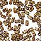 Для украшений ручной работы. Ярмарка Мастеров - ручная работа. Купить Чешские бусины Бриксы 3x6mm Бежевый мрамор CzechMates Bricks 50шт. Handmade.