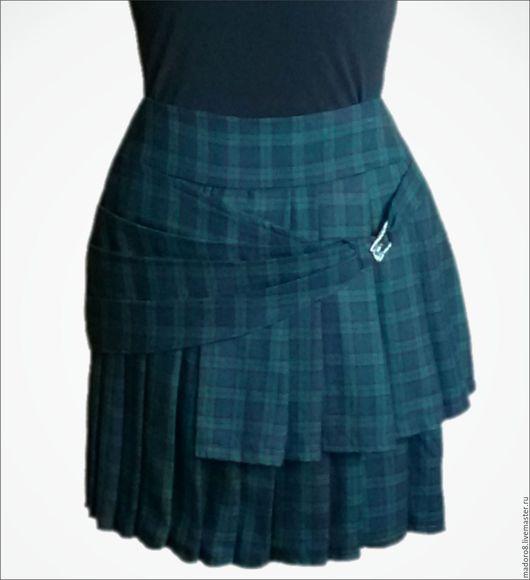 Юбки ручной работы. Ярмарка Мастеров - ручная работа. Купить Зеленый килт. Handmade. Зеленый, шотландка, Шотландия, юбка, шотландка