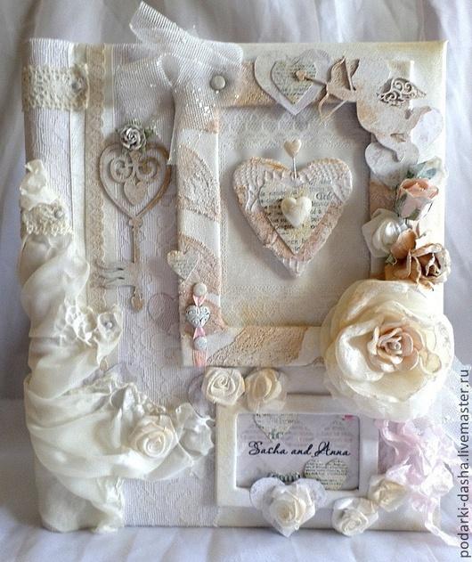 Свадебные фотоальбомы ручной работы. Ярмарка Мастеров - ручная работа. Купить Свадебный фотоальбом кожаный белый. Handmade. Белый