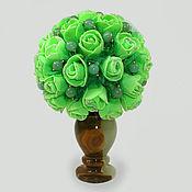 """Цветы и флористика ручной работы. Ярмарка Мастеров - ручная работа Цветы из нефрита """"Нефритовая весна"""" в вазочке из оникса. Handmade."""