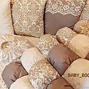 Комплект белья в кроватку ручной работы. Ярмарка Мастеров - ручная работа Комплект в кроватку. Handmade.