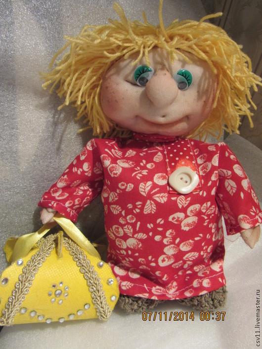 Коллекционные куклы ручной работы. Ярмарка Мастеров - ручная работа. Купить Кукла текстильная . Домовенок Кузя ручной работы.. Handmade.