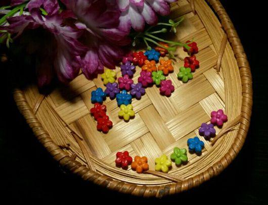 Для украшений ручной работы. Ярмарка Мастеров - ручная работа. Купить Бусины цветочки. Handmade. Бусины, бусины цветочки