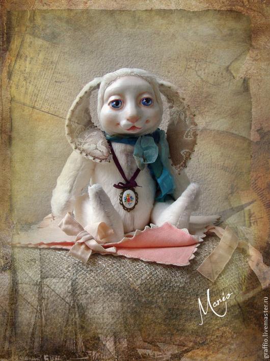 Коллекционные куклы ручной работы. Ярмарка Мастеров - ручная работа. Купить Эрни. Handmade. Белый, тедди зайка, кролик