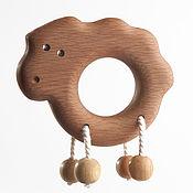 """Teethers, rattles handmade. Livemaster - original item Погремушка-грызунок """"Ягненок"""". Handmade."""