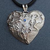 Украшения ручной работы. Ярмарка Мастеров - ручная работа Кулон-Сердце в виде часов,серебро. Handmade.