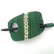Украшения handmade. Livemaster - original item The hairpin Spring (flowers, green, brooch, hair pin shawl). Handmade.