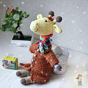 Мягкие игрушки ручной работы. Ярмарка Мастеров - ручная работа Игрушка Жираф в пальто. Handmade.