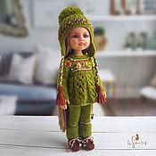 Куклы и игрушки handmade. Livemaster - original item Clothes for dolls Paola Reina.Pistachio-chocolate set with roses.. Handmade.