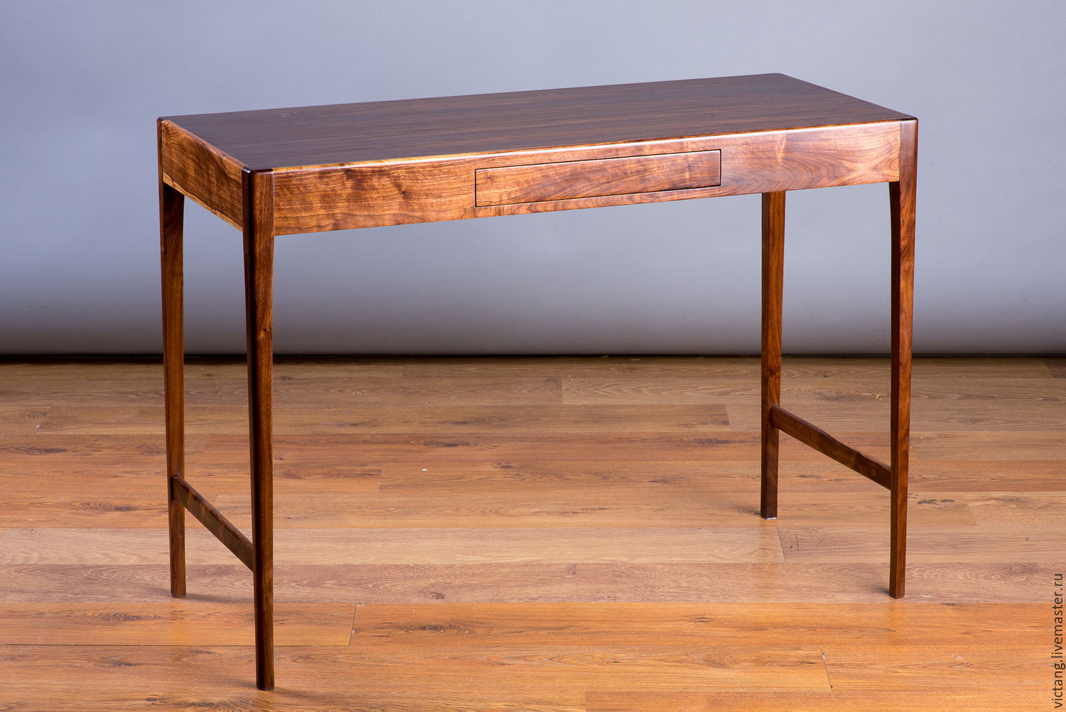 My Furniture Handmade. Writing Table In Black Walnut. Woodshop Victang  (tridoski).