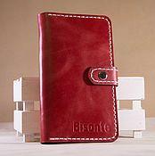 Сумки и аксессуары handmade. Livemaster - original item Purse red leather. Handmade.