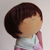 """Материалы для творчества ручной работы. Ярмарка Мастеров - ручная работа Кукольный парик""""Мальчиковый бордо 33"""". Handmade."""