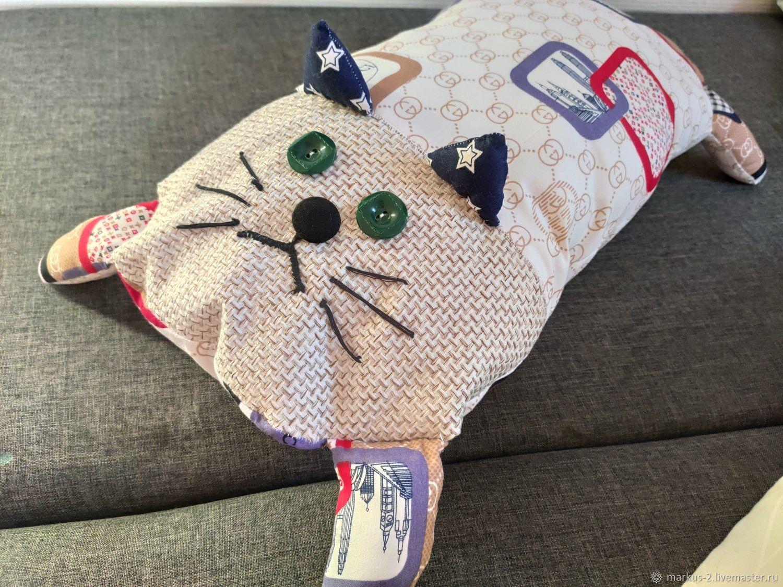 """Подушка диванный кот """"Гуччик"""", Детская подушка, Орск,  Фото №1"""