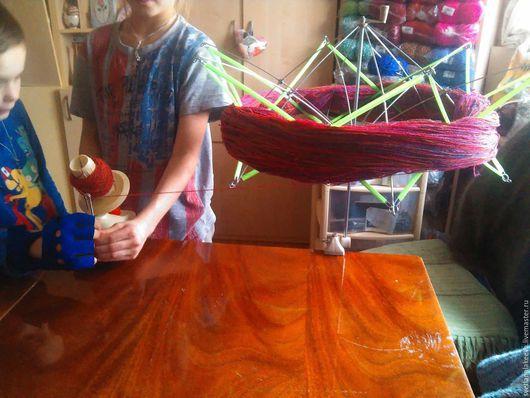 Вязание ручной работы. Ярмарка Мастеров - ручная работа. Купить ЗОНТ для ПАСМ. Handmade. Салатовый, моталка, моталка для пряжи