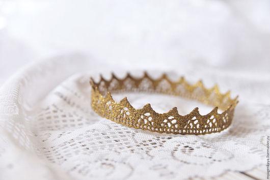 Аксессуары для фотосессий ручной работы. Ярмарка Мастеров - ручная работа. Купить Корона темное золото бронза. Handmade. Корона
