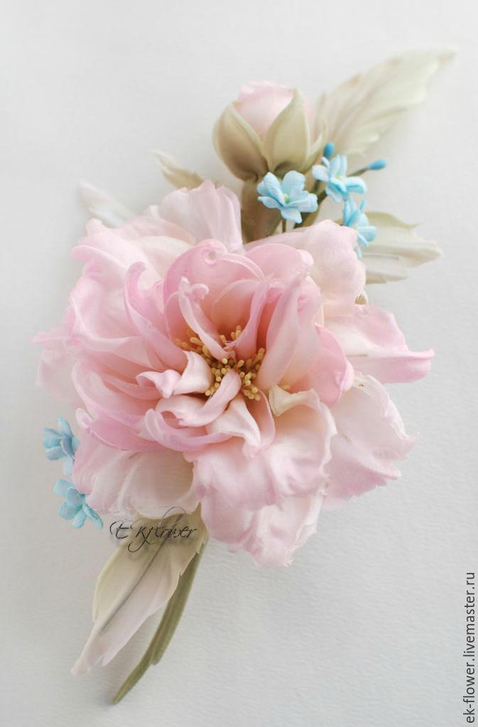 Fabric flowers silk flowerse song pink watercolor shop the song pink watercolor wedding accessories handmade livemaster handmade buy fabric flowers silk flowers mightylinksfo