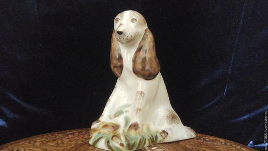Винтажные предметы интерьера. Ярмарка Мастеров - ручная работа. Купить Фарфоровая статуэтка   Спаниэль. Handmade. Белый, собака, фарфор