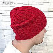 Аксессуары handmade. Livemaster - original item Men`s knitted hat, classic beanie hat for men. Handmade.