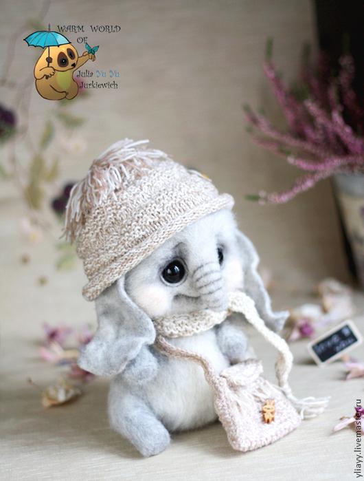 Куклы и игрушки ручной работы. Ярмарка Мастеров - ручная работа. Купить Слон Юни. Handmade. Серый, слоник игрушка