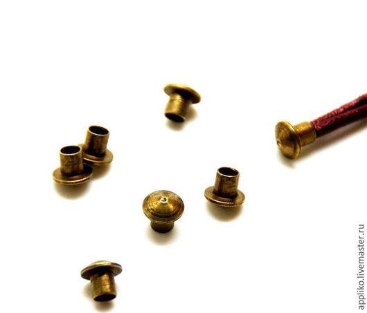 Для украшений ручной работы. Ярмарка Мастеров - ручная работа. Купить Заглушка для шнура d.3мм (бронза). Handmade. Золотой
