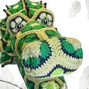 Материалы для творчества ручной работы. Ярмарка Мастеров - ручная работа Мастер-класс Африканский Кроха-Дил крокодил из мотивов. Handmade.