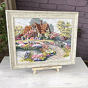Картины и панно handmade. Livemaster - original item Painting embroidered cross in the dream House cross stitch. Handmade.