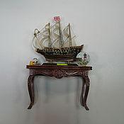 Куклы и игрушки ручной работы. Ярмарка Мастеров - ручная работа Консоль с кораблем. Handmade.