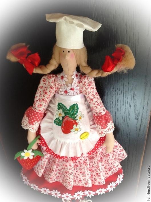 Куклы Тильды ручной работы. Ярмарка Мастеров - ручная работа. Купить Тильда повариха. Handmade. Ярко-красный, игрушка повар