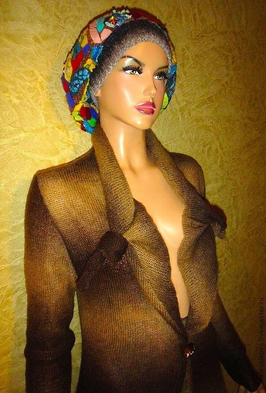 """Верхняя одежда ручной работы. Ярмарка Мастеров - ручная работа. Купить Пальто """"Розочки""""-цвет орех/шоколад. Handmade. Мода"""