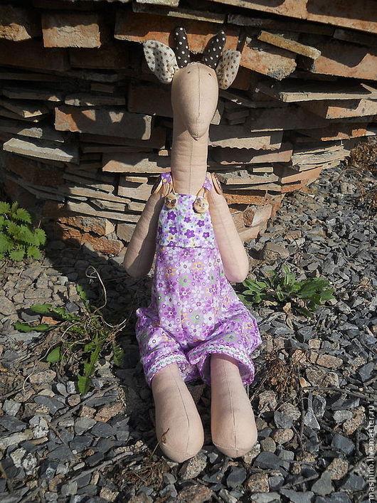 """Игрушки животные, ручной работы. Ярмарка Мастеров - ручная работа. Купить """"Жером"""", жираф. Handmade. Фиолетовый, интерьерная кукла, синтепух"""