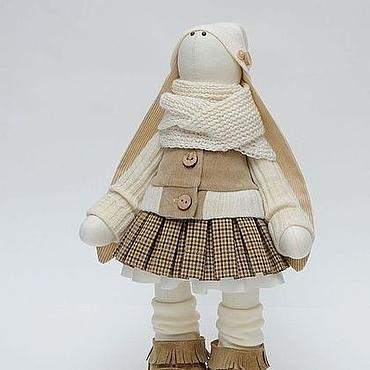 Куклы и игрушки ручной работы. Ярмарка Мастеров - ручная работа Зая в бежевых тонах. Handmade.