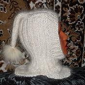 Работы для детей, ручной работы. Ярмарка Мастеров - ручная работа Детская шапочка - шлем из козьего пуха. Handmade.