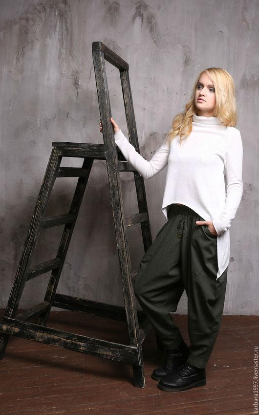 Кофты и свитера ручной работы. Ярмарка Мастеров - ручная работа. Купить Свитер ASYMMETRICAL WHITE. Handmade. Белый, одежда для женщин