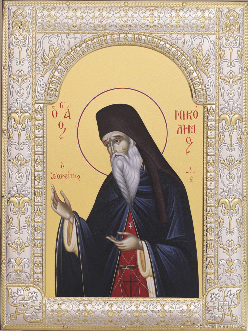 St. Nikodim the Holy mountaineer (18h24cm), Icons, Moscow,  Фото №1