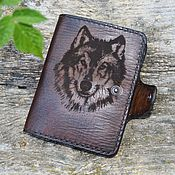 Сумки и аксессуары handmade. Livemaster - original item Leather, personalized, vintage wallet №16. Handmade.